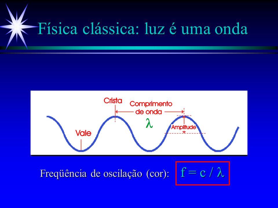 Determinismo clássico ä A descrição exata do movimento de uma partícula (em termos de posição e velocidade) é possível desde que conheçamos as condiçõ