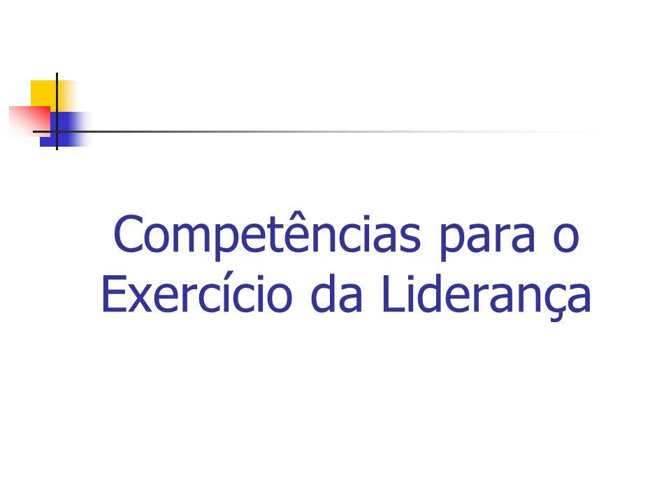 Competências para o Exercício da Liderança