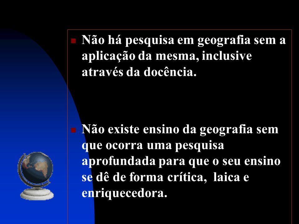 O Profissional de Geografia * Os profissionais da Geografia, enquanto bacharéis, são regulamentados pelo Sistema CONFEA/CREA.