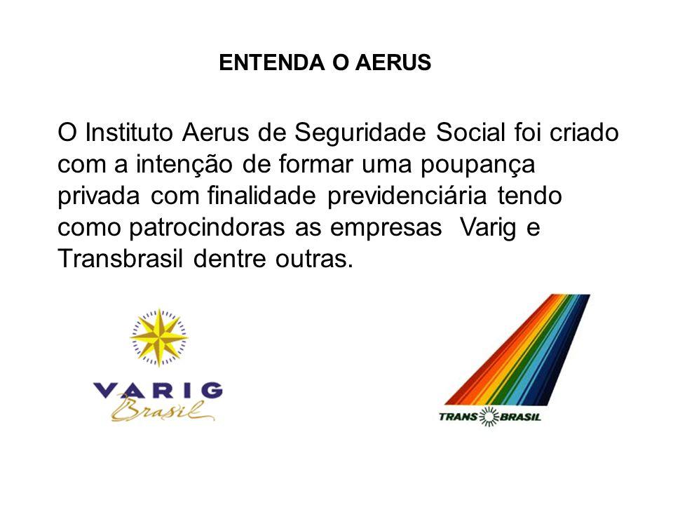 O Instituto Aerus de Seguridade Social foi criado com a intenção de formar uma poupança privada com finalidade previdenciária tendo como patrocindoras as empresas Varig e Transbrasil dentre outras.