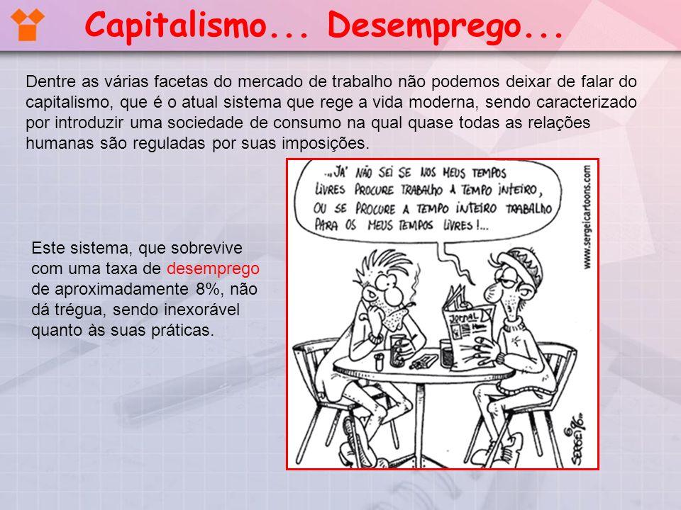 Dentre as várias facetas do mercado de trabalho não podemos deixar de falar do capitalismo, que é o atual sistema que rege a vida moderna, sendo carac