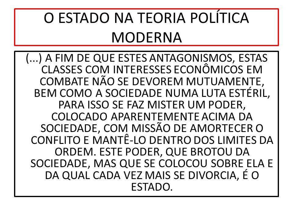 ESTADO ESTÁGIO DE CONTRATO SOCIAL POLÍTICO NATUREZA PACTO A VISÃO POSITIVA DO ESTADO