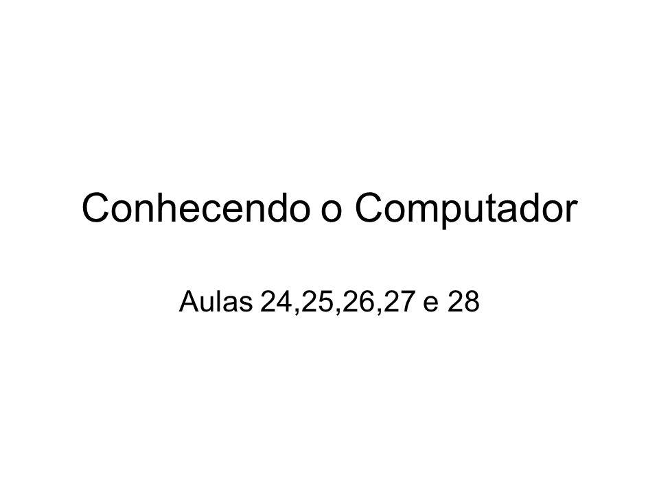 Conhecendo o Computador Aulas 24,25,26,27 e 28