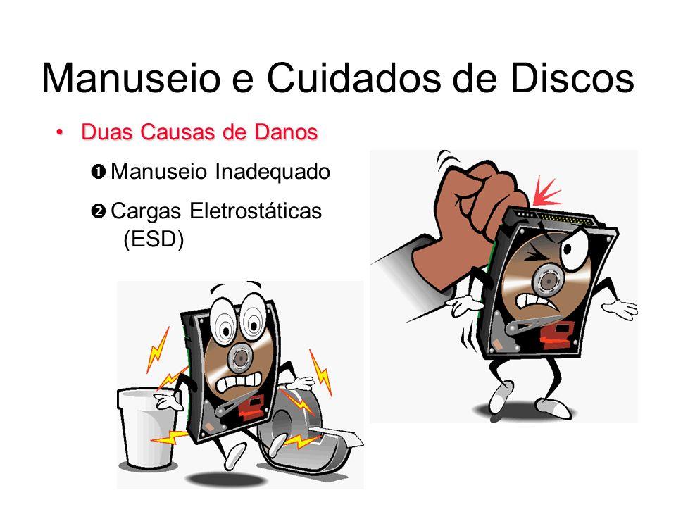 Manuseio e Cuidados de Discos Duas Causas de DanosDuas Causas de Danos Manuseio Inadequado Cargas Eletrostáticas (ESD)