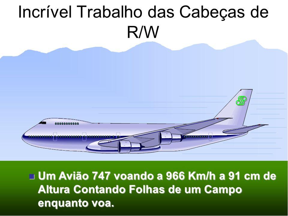 Incrível Trabalho das Cabeças de R/W Um Avião 747 voando a 966 Km/h a 91 cm de Altura Contando Folhas de um Campo enquanto voa. Um Avião 747 voando a