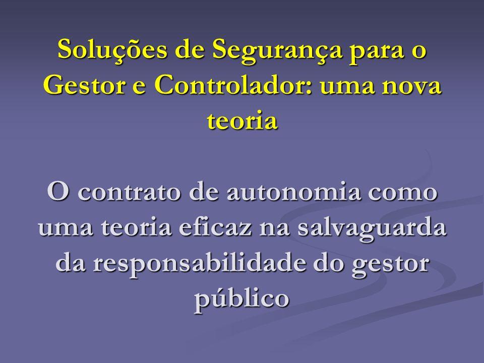 Soluções de Segurança para o Gestor e Controlador: uma nova teoria O contrato de autonomia como uma teoria eficaz na salvaguarda da responsabilidade d