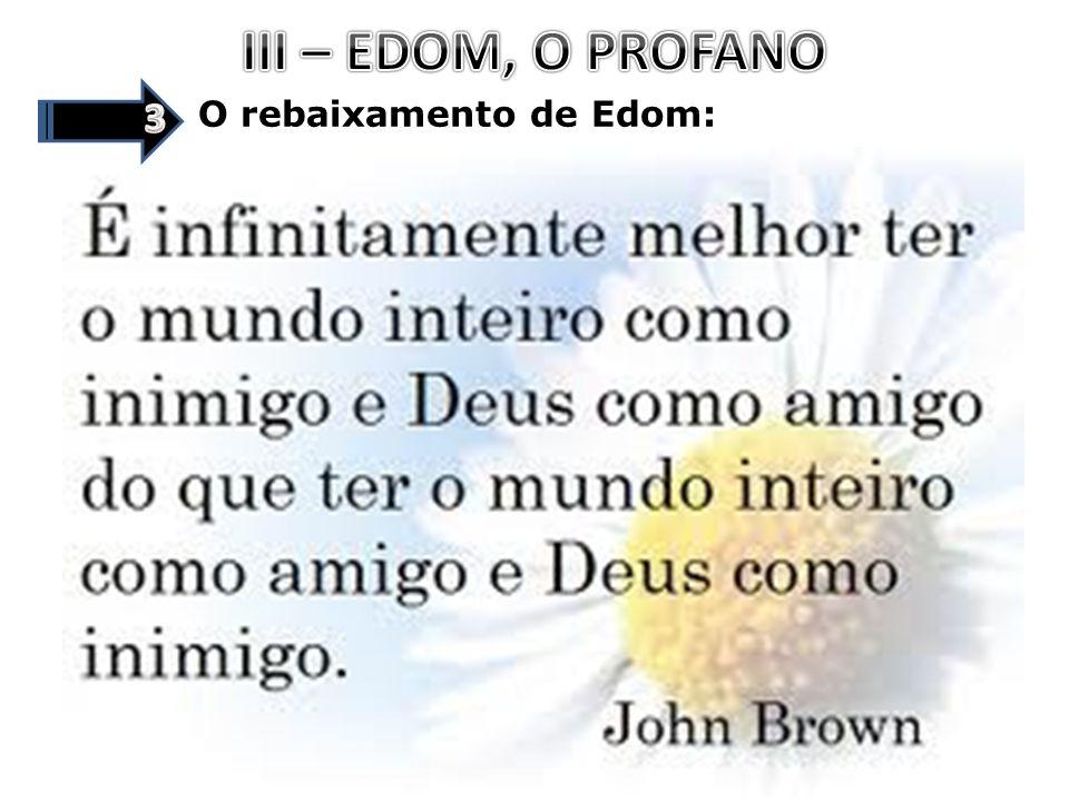 O rebaixamento de Edom: