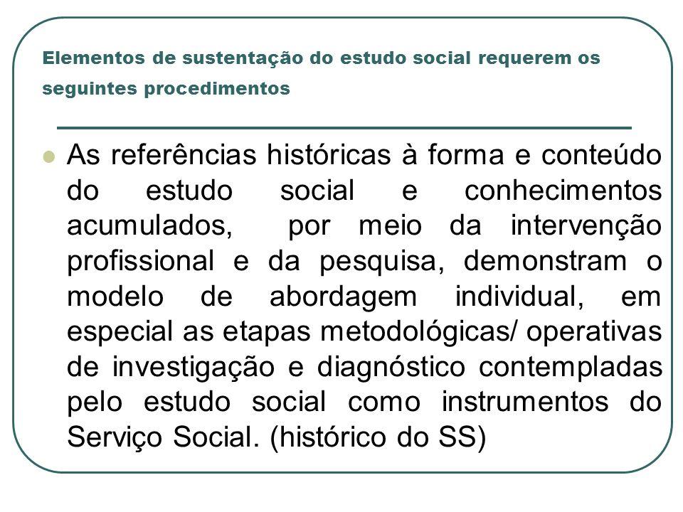 Elementos de sustentação do estudo social requerem os seguintes procedimentos As referências históricas à forma e conteúdo do estudo social e conhecim