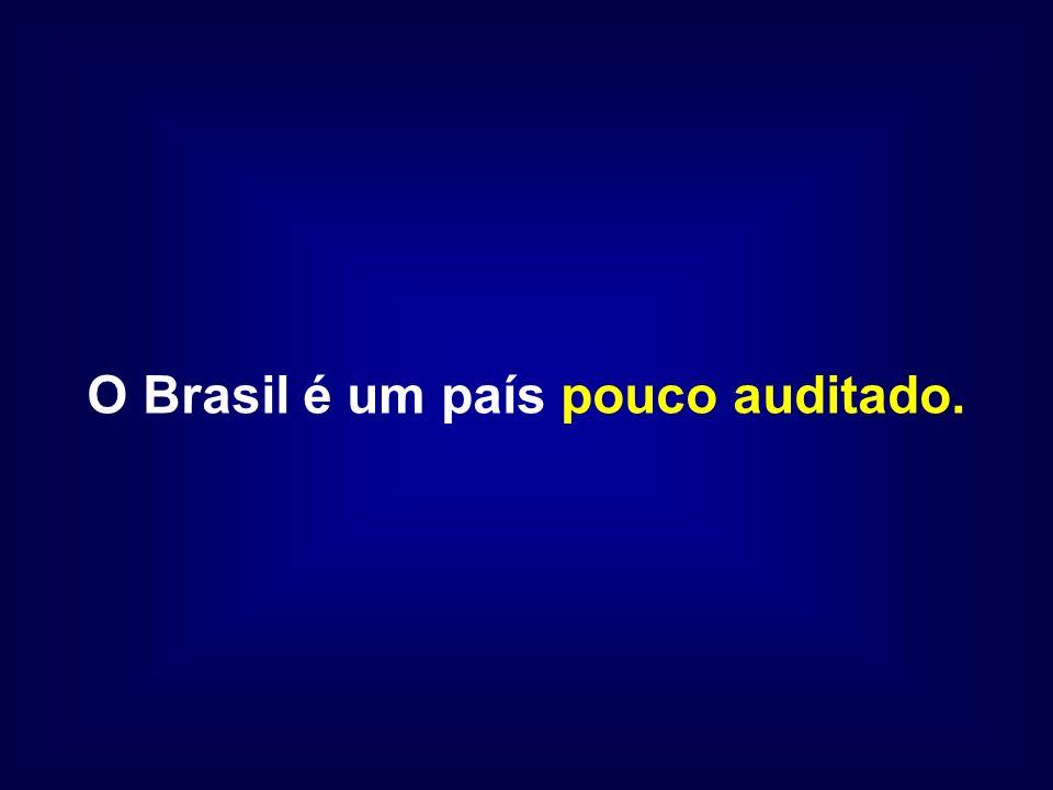 O Brasil é um país pouco auditado.