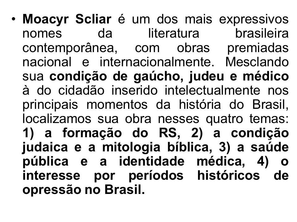 Moacyr Scliar é um dos mais expressivos nomes da literatura brasileira contemporânea, com obras premiadas nacional e internacionalmente. Mesclando sua