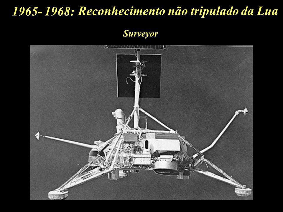 1965- 1968: Reconhecimento não tripulado da Lua Surveyor