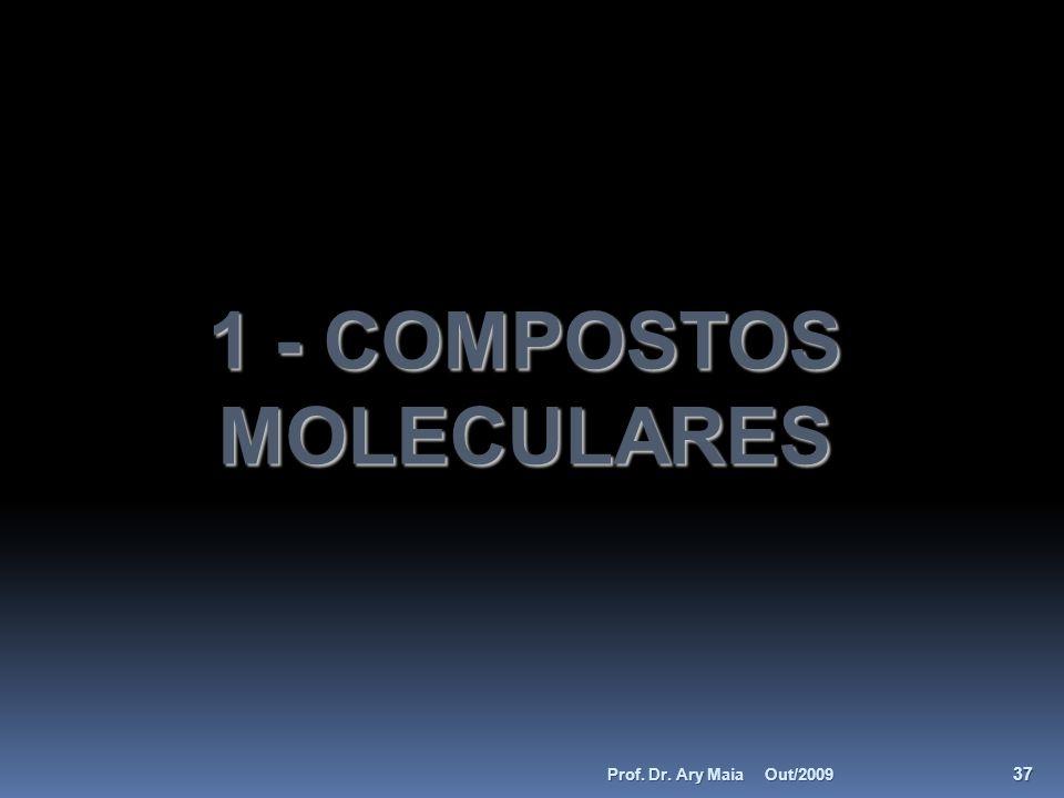 1 - COMPOSTOS MOLECULARES Out/2009 37 Prof. Dr. Ary Maia