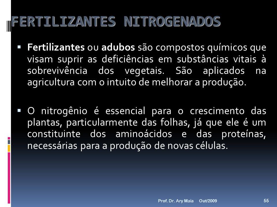 FERTILIZANTES NITROGENADOS Fertilizantes ou adubos são compostos químicos que visam suprir as deficiências em substâncias vitais à sobrevivência dos v