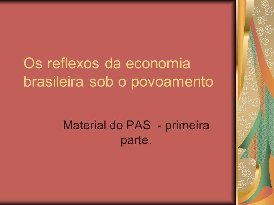 Os reflexos da economia brasileira sob o povoamento Material do PAS - primeira parte.