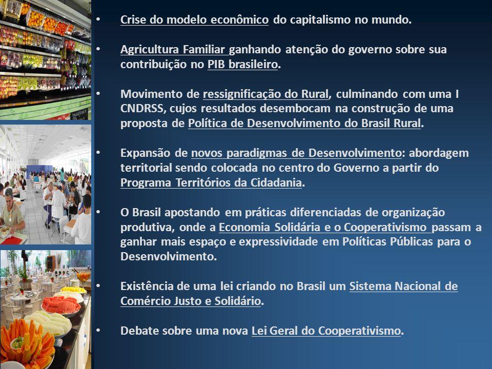 Crise do modelo econômico do capitalismo no mundo. Agricultura Familiar ganhando atenção do governo sobre sua contribuição no PIB brasileiro. Moviment