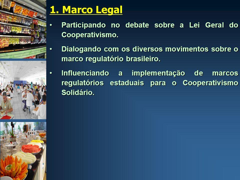 1. Marco Legal Participando no debate sobre a Lei Geral do Cooperativismo.Participando no debate sobre a Lei Geral do Cooperativismo. Dialogando com o