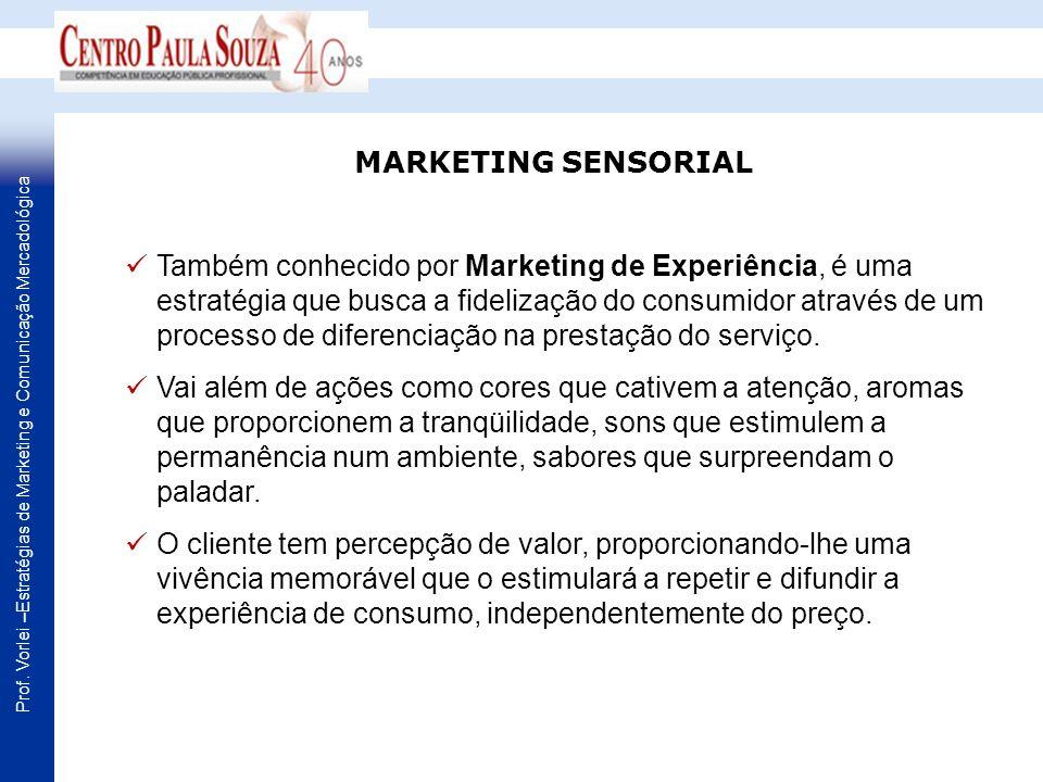 Também conhecido por Marketing de Experiência, é uma estratégia que busca a fidelização do consumidor através de um processo de diferenciação na prest