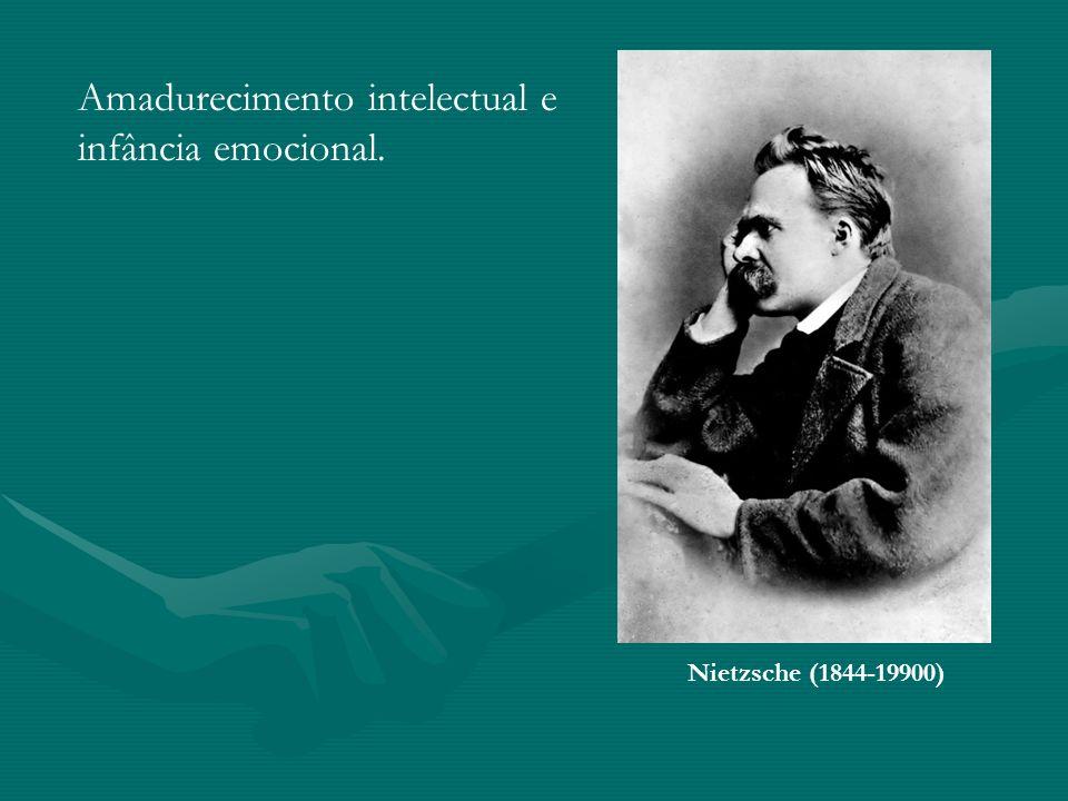 Nietzsche (1844-19900) Amadurecimento intelectual e infância emocional.