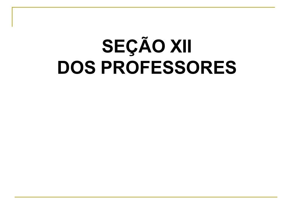 SEÇÃO XII Art.