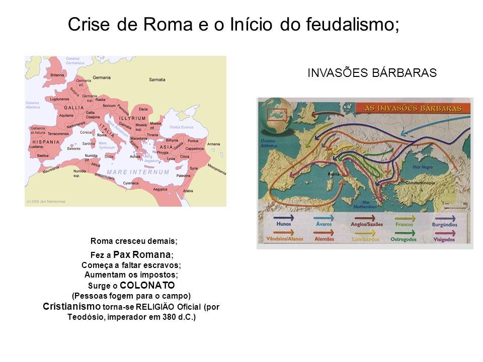 COM A CRISE O IMPÉRIO ROMANO FOI DIVIDIDO (395 d.C.)