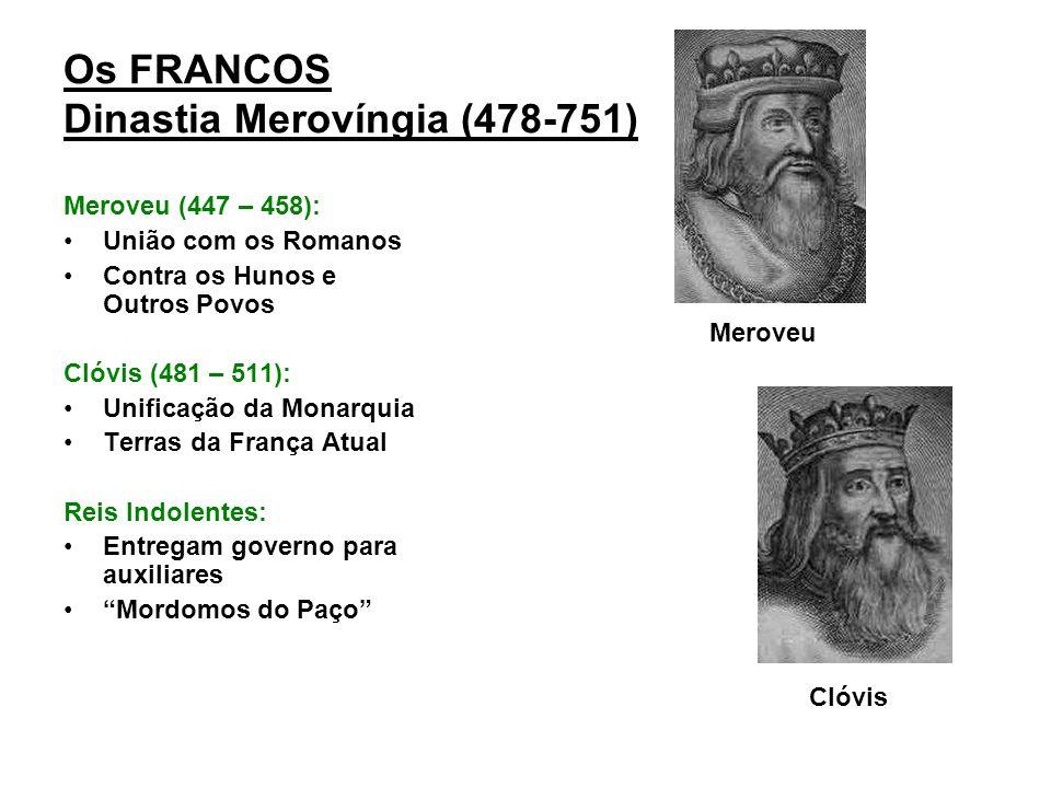 Carlos Magno (771- 814): Sagrado Imperador dos Cristãos (800 d.C) pelo papa Leão III; Carolíngios