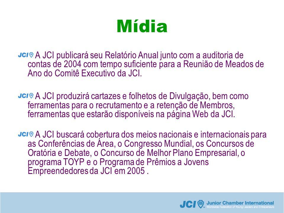 Mídia A JCI publicará seu Relatório Anual junto com a auditoria de contas de 2004 com tempo suficiente para a Reunião de Meados de Ano do Comitê Executivo da JCI.