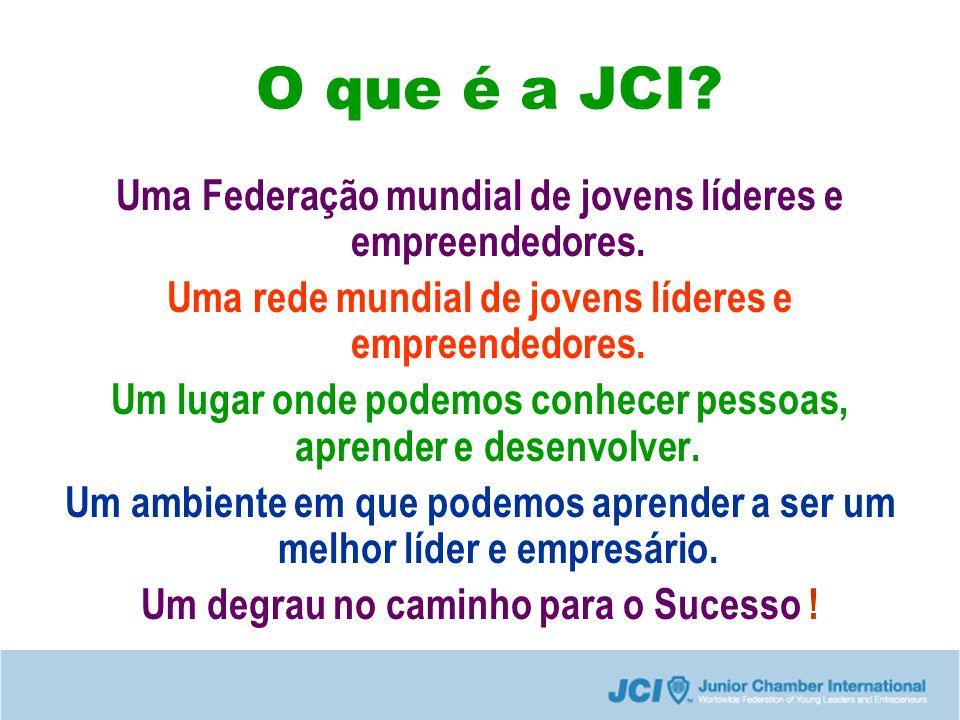 O que é a JCI.Uma Federação mundial de jovens líderes e empreendedores.