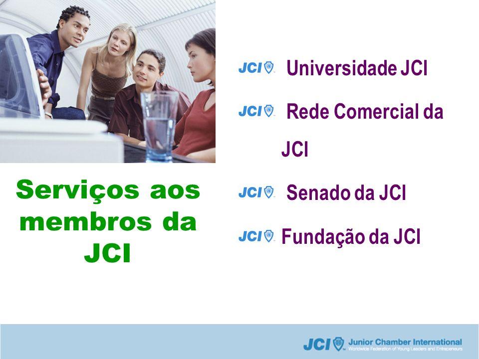 Serviços aos membros da JCI Universidade JCI Rede Comercial da JCI Senado da JCI Fundação da JCI