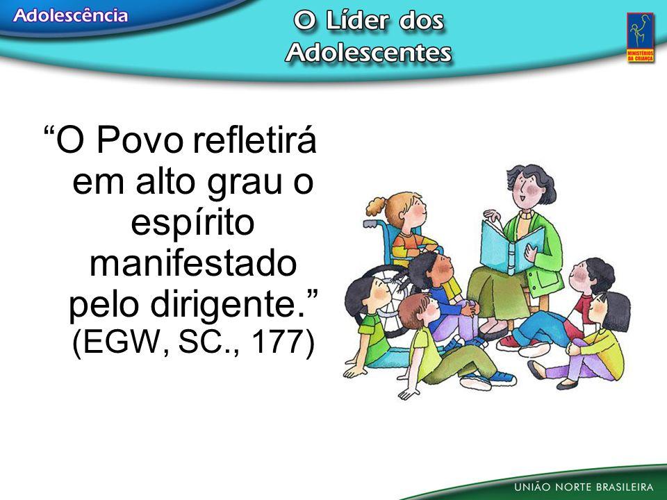 O Povo refletirá em alto grau o espírito manifestado pelo dirigente. (EGW, SC., 177)