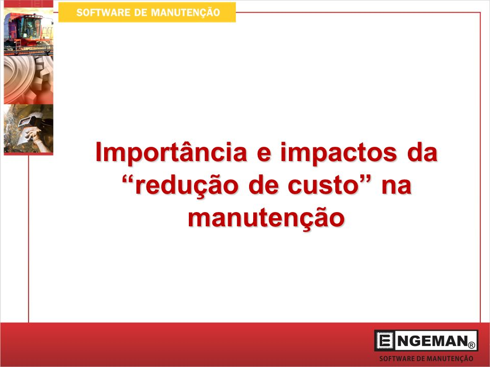 Solução A utilização de sistemas de gerenciamento da manutenção objetiva aumentar a capacidade produtiva através de melhorias no desempenho e vida dos equipamentos, redução das paradas de manutenção não programadas.