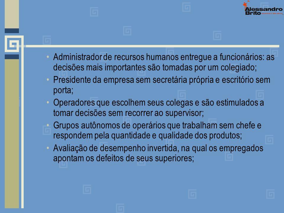 Administrador de recursos humanos entregue a funcionários: as decisões mais importantes são tomadas por um colegiado; Presidente da empresa sem secret