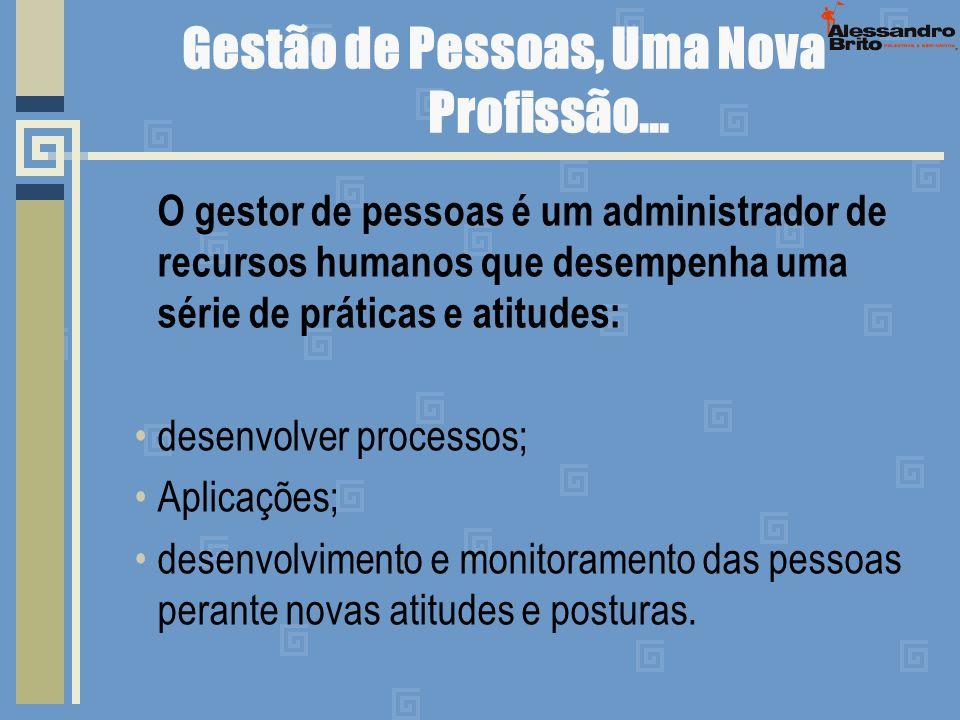 Gestão de Pessoas, Uma Nova Profissão... O gestor de pessoas é um administrador de recursos humanos que desempenha uma série de práticas e atitudes: d