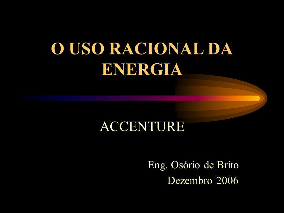 RACIONALIZAÇÃO DO USO DA ENERGIA Busca da eficiência no uso da energia: redução do seu custo; aumento da produtividade.