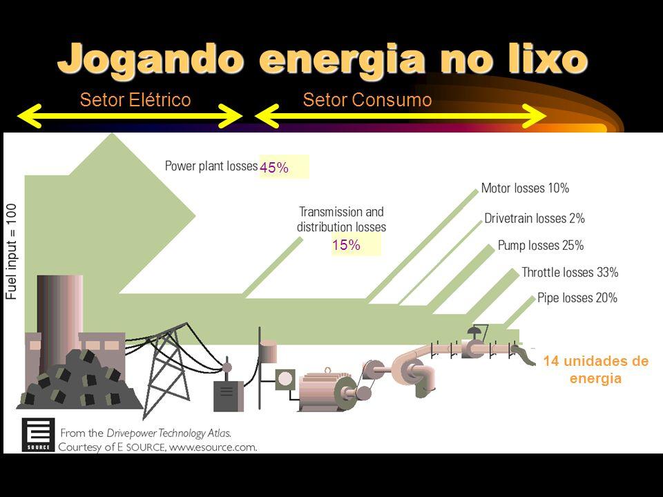 A NECESSIDADE DA EFICIÊNCIA Eficiência no uso da energia = quando a Lei de Conservação de Energia supera a Lei da Degradação da Energia.