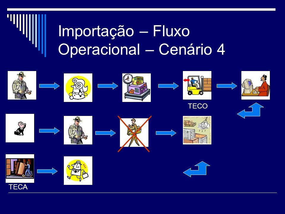 Importação – Fluxo Operacional – Cenário 4 TECO TECA