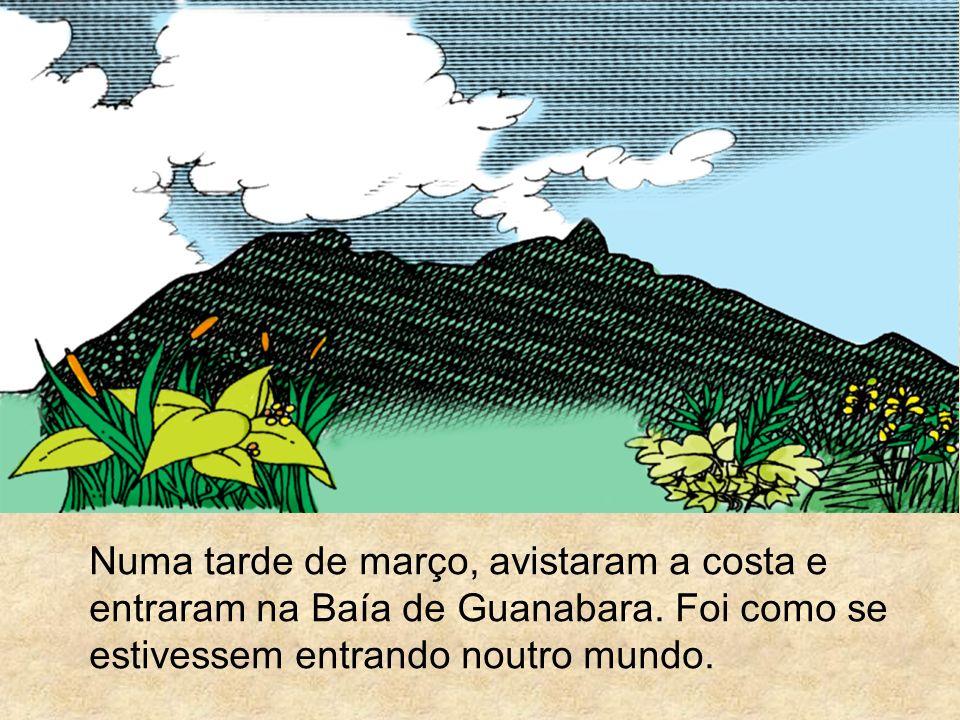 Numa tarde de março, avistaram a costa e entraram na Baía de Guanabara. Foi como se estivessem entrando noutro mundo.