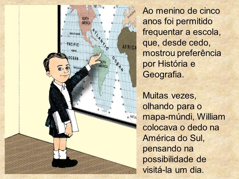 Ao menino de cinco anos foi permitido frequentar a escola, que, desde cedo, mostrou preferência por História e Geografia. Muitas vezes, olhando para o