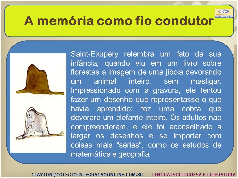 A imaginação CLAYTON@COLEGIOINTEGRACAOONLINE.COM.BRLÍNGUA PORTUGUESA E LITERATURA