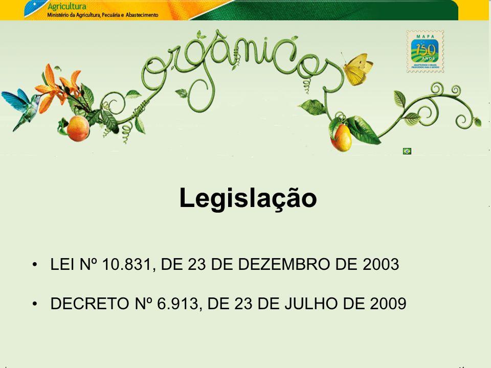 Legislação LEI Nº 10.831, DE 23 DE DEZEMBRO DE 2003 DECRETO Nº 6.913, DE 23 DE JULHO DE 2009
