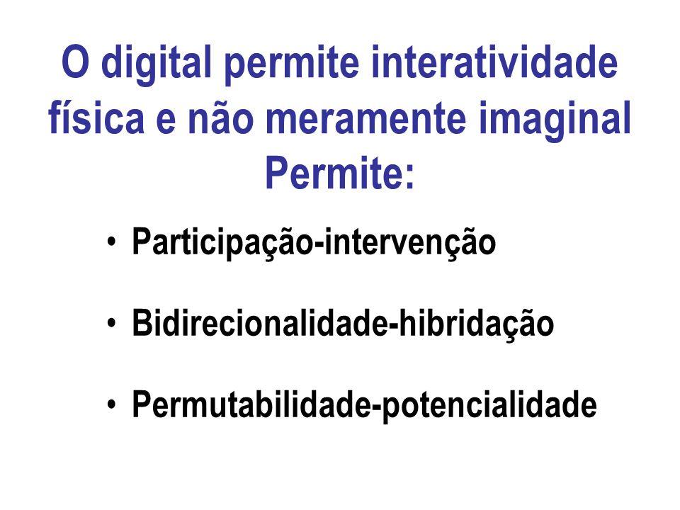 O digital autoriza, materializa as operações [da leitura clássica], e amplia consideravelmente seu alcance. Ele propõe um reservatório, uma matriz din