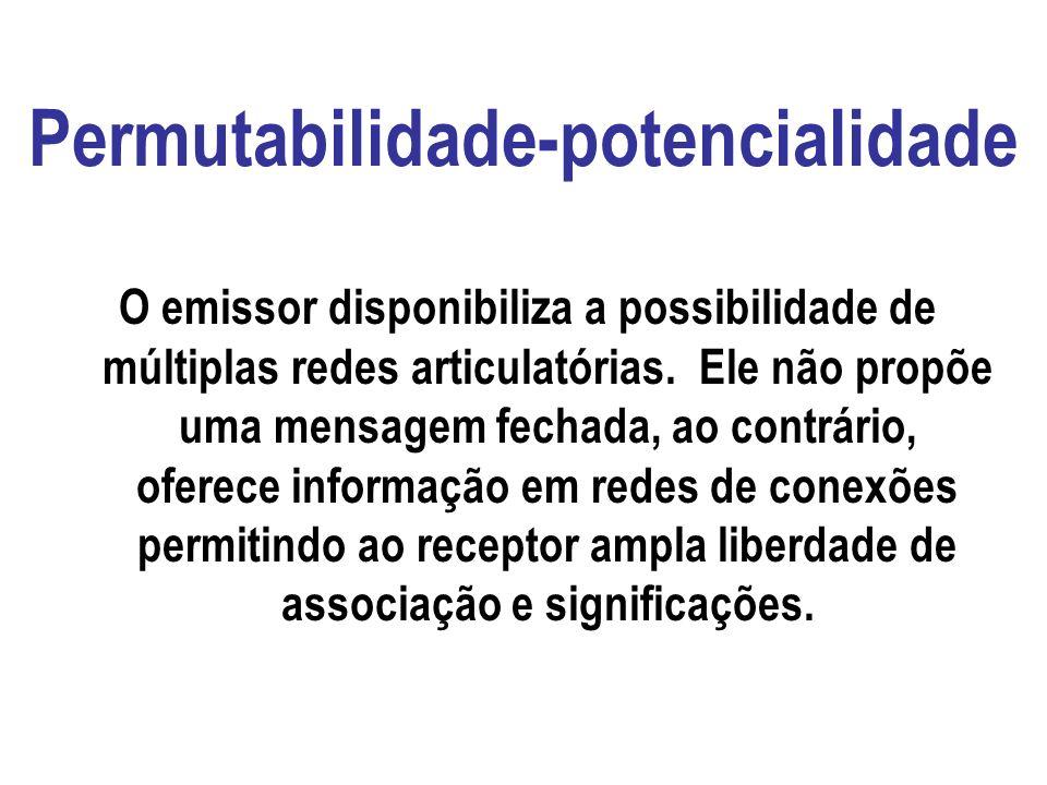 Bidirecionalidade-hibridação Comunicar pressupõe recursão da emissão e recepção. A comunicação é produção conjunta da emissão e da recepção. O emissor