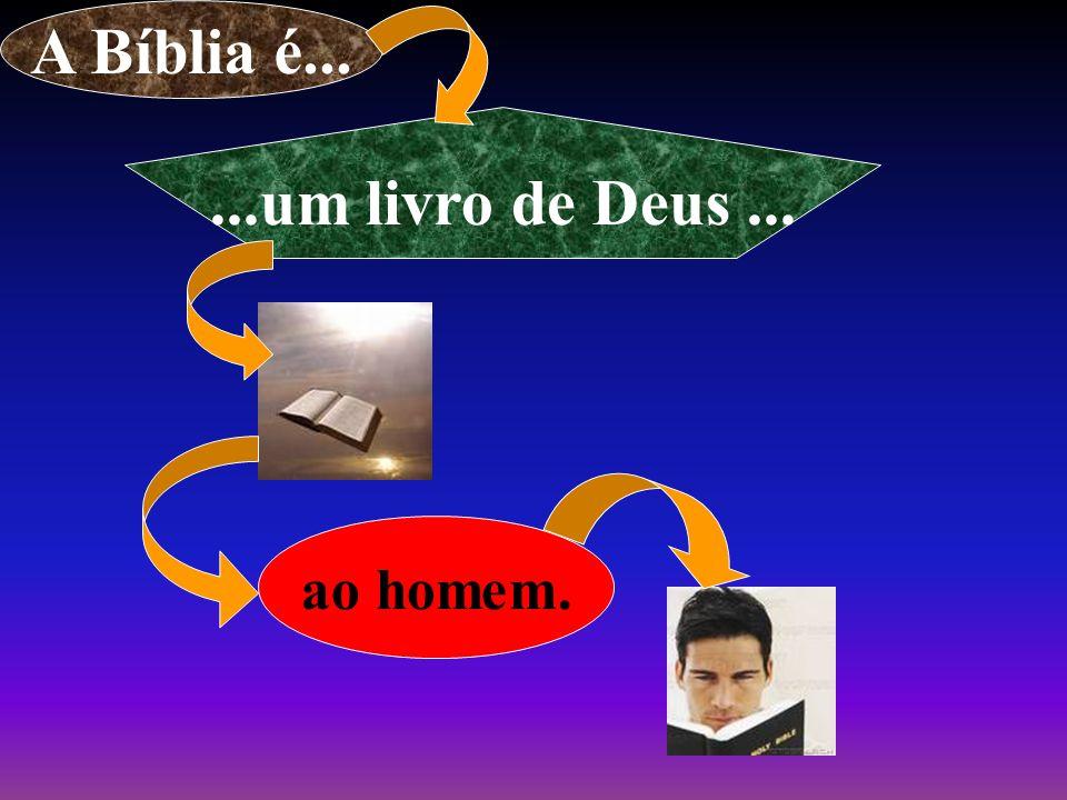 ao homem. A Bíblia é......um livro de Deus...