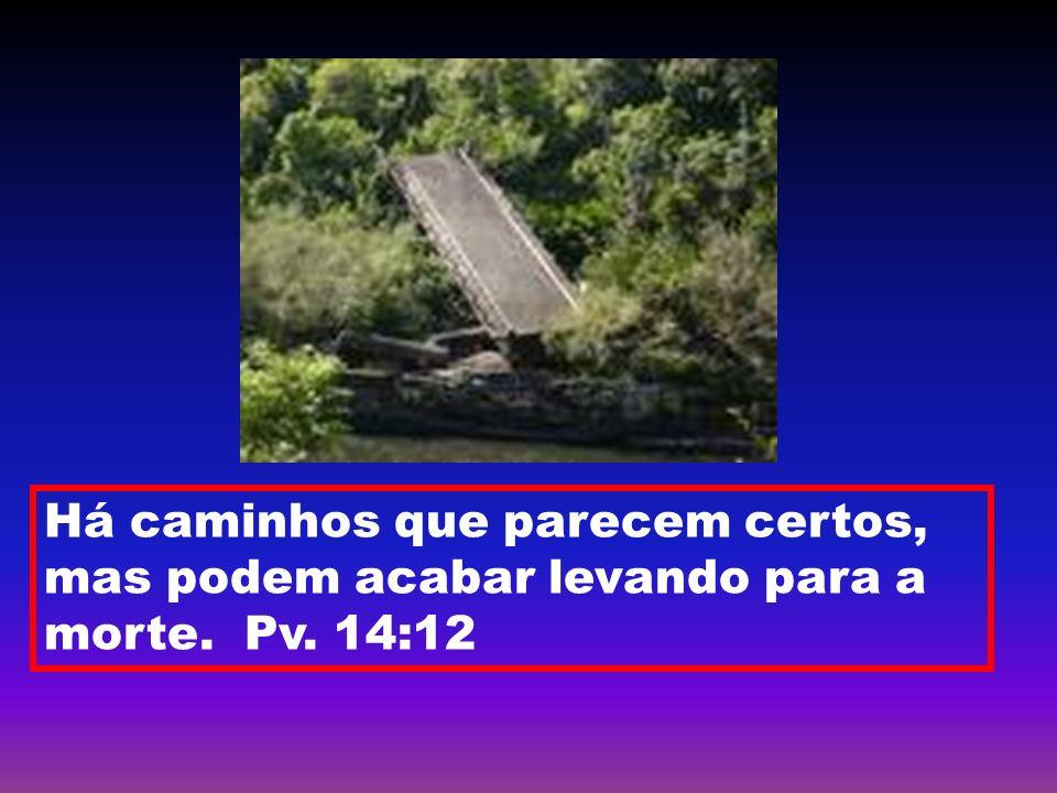 Há caminhos que parecem certos, mas podem acabar levando para a morte. Pv. 14:12
