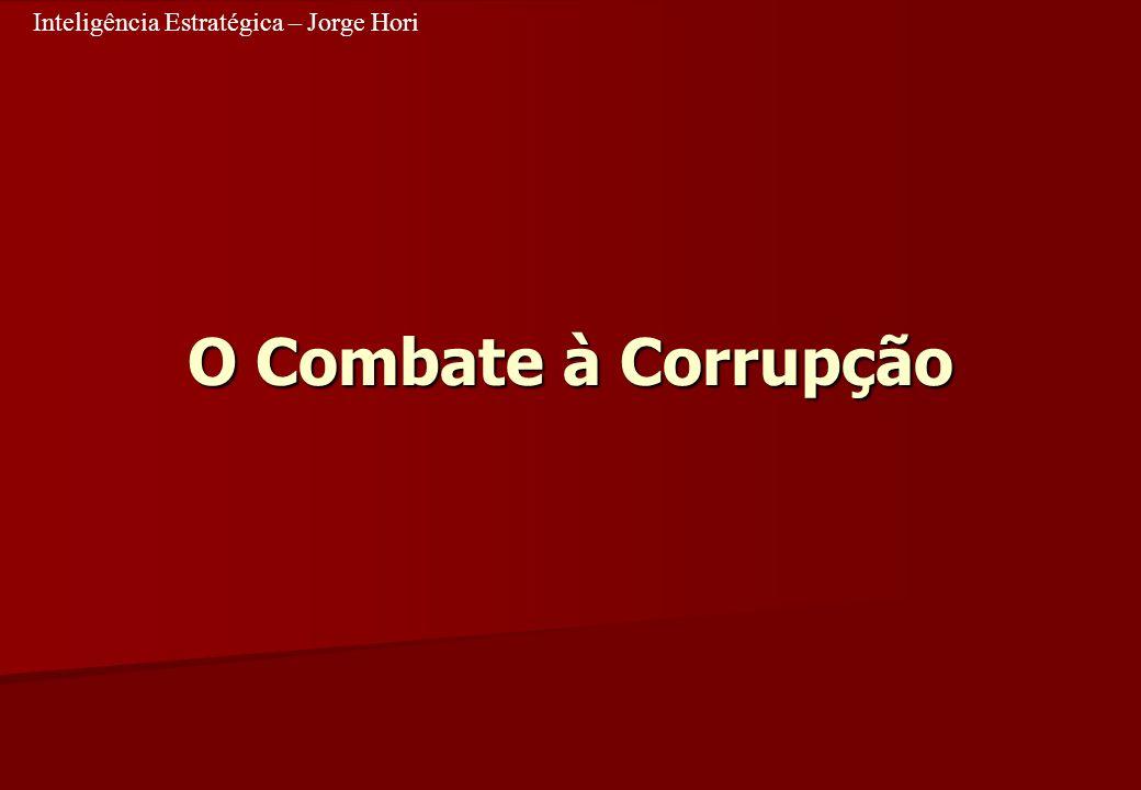 Inteligência Estratégica – Jorge Hori O Combate à Corrupção