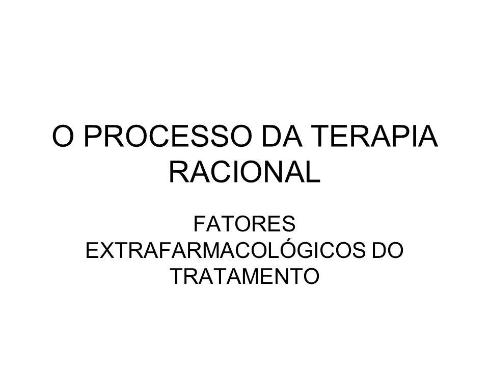 O PROCESSO DA TERAPIA RACIONAL FATORES EXTRAFARMACOLÓGICOS DO TRATAMENTO