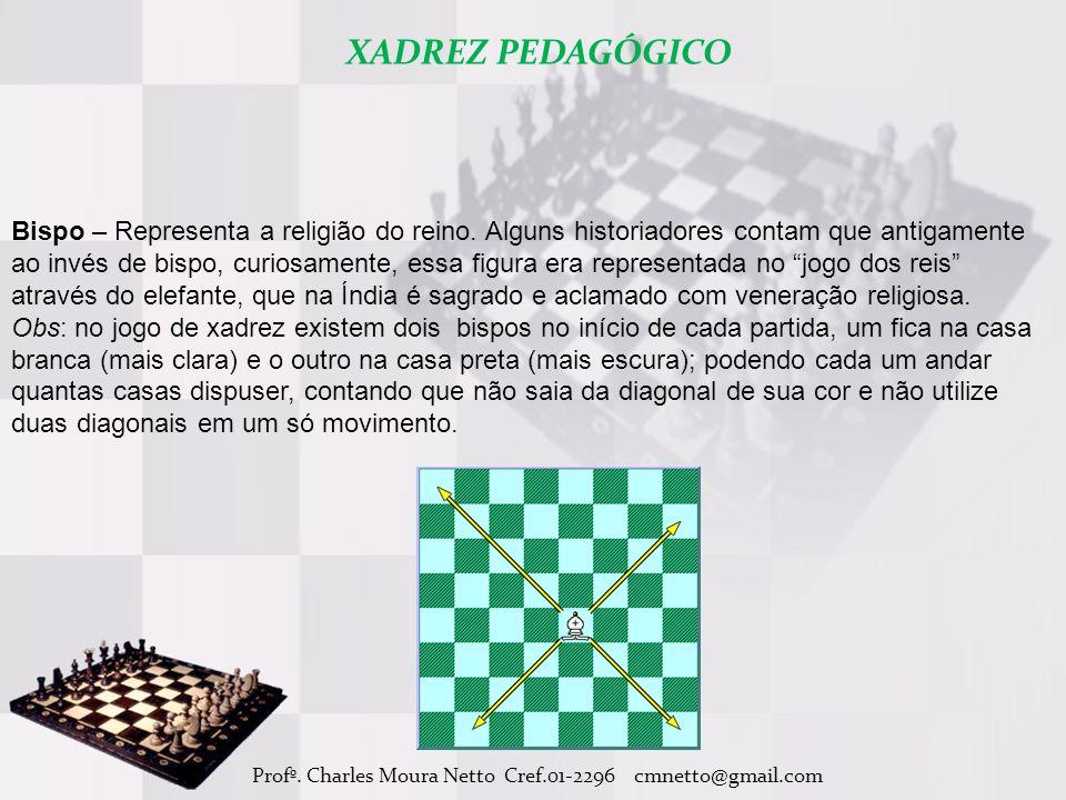 Profº.Charles Moura Netto Cref.01-2296 cmnetto@gmail.com Bispo – Representa a religião do reino.