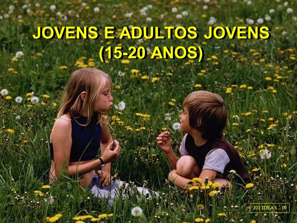 JOVENS E ADULTOS JOVENS (15-20 ANOS) 101 IDEAS... 10