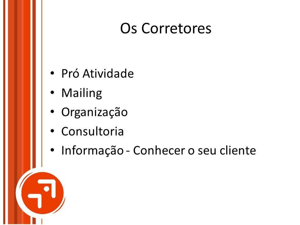 Os Corretores Pró Atividade Mailing Organização Consultoria Informação - Conhecer o seu cliente