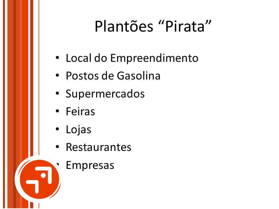 Plantões Pirata Local do Empreendimento Postos de Gasolina Supermercados Feiras Lojas Restaurantes Empresas