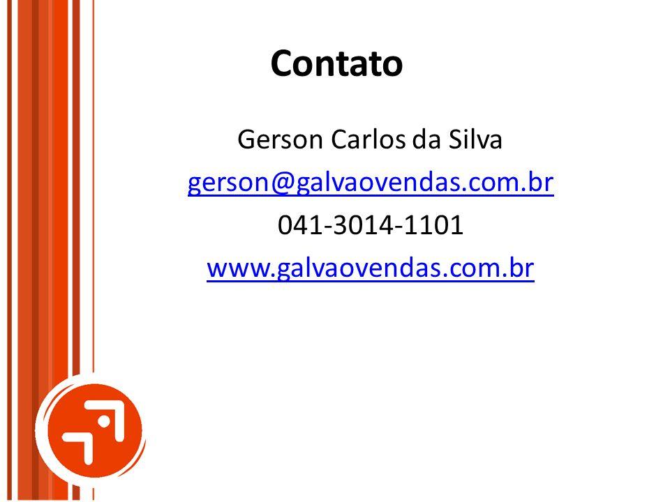 Contato Gerson Carlos da Silva gerson@galvaovendas.com.br 041-3014-1101 www.galvaovendas.com.br